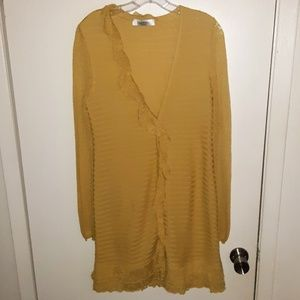 Valentino Yellow Green Knitwear Cardigan Dress